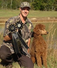Hunting with our Poodles. I LOVE that there are boards that show a poodle the way the breed is for. I hope people see more of this than the so called French (the breed is from Germany used for hunting) poodles. Such a disservice to the breed.