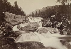 Stredný vodopád Veľkého Studeného potoka, 1887 Snow, Outdoor, Outdoors, Outdoor Games, The Great Outdoors, Eyes, Let It Snow