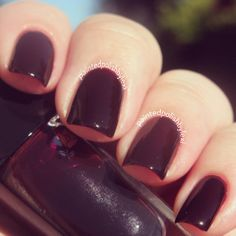Love the colour!!   Bold winter nails.