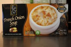 Trader Joe's French Onion Soup -- yum, and so easy.