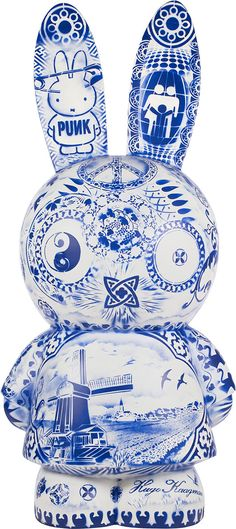 Nijntje door Hugo Kaagman. Visit shop.holland.com for contemporary Dutch Design & Gifts in Delft blue ceramic and Miffy