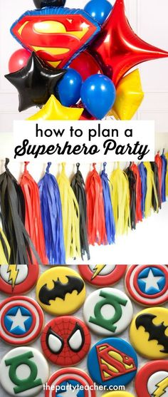 Mini Party Plan: Superhero Party 2019 How to plan a superhero birthday party by The Party Teacher The post Mini Party Plan: Superhero Party 2019 appeared first on Birthday ideas. Superman Birthday Party, Avengers Birthday, Birthday Party Games, Diy Birthday, Cake Birthday, Birthday Ideas, Avenger Birthday Party Ideas, Superhero First Birthday, Birthday Themes For Boys