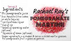 Racheal Ray's #pomegranate #martini #recipe