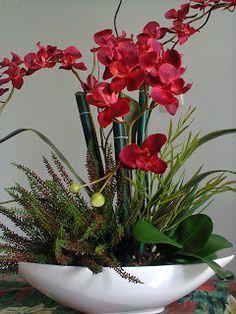 Flores d'k - Plantas/Flores Permanentes Exotic Plants, Exotic Flowers, Faux Flowers, Silk Flowers, Beautiful Flowers, Orchid Flower Arrangements, Orchid Centerpieces, Artificial Floral Arrangements, Orchid Plant Care