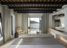 Find all about a luxurious new boutique hotel in Mykonos. This summer, Kalesma is the famous island's most anticipated new entry designed by the distinguished Greek design company K-studio Mykonos Hotels, Mykonos Greece, Restaurants, Greek Design, Charming House, Provence Style, Concrete Design, Luxury Accommodation, Greek Islands
