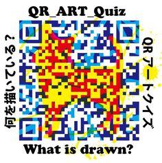 クイズ、何が描かれているでしょう?#QR #クイズ #何? #アート #イラスト #新しい #表現 #日本 #大阪 #カラー #QR #Quiz #What? #Art #Illustration #New #Expression #Japan #Osaka #color