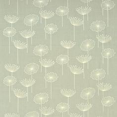 Sanderson Dandelion Embroidery (curtain fabric). Textiles