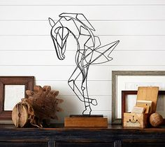 Wire Horse Sculpture #potterybarn -Liked @ www.homescapes-sd.com #homescapes #staging