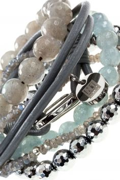 splash armband combination kombination blau grau