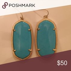 Kendra Scott Danielle earrings Kendra Scott turquoise Danielle earrings. NEVER WORN Kendra Scott Jewelry Earrings