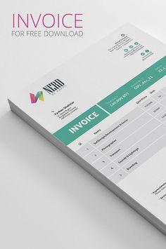 Invoice PSD Mockup