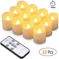 Led Kerzen Synmixx 12 Led Flammenlose Teelichter Flackern Kerzen