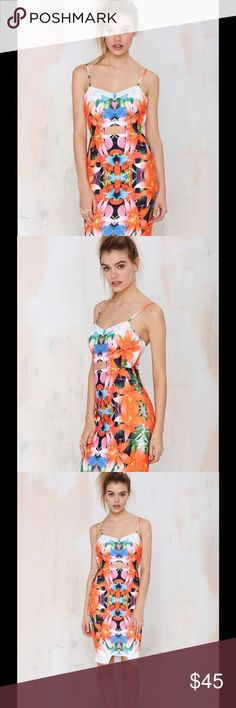 Nasty gal Tiger Mist Tropicana Cutout Dress Worn once excellent condition Tiger Mist Tropicana Cutout Dress from nasty gal Nasty Gal Dresses Midi