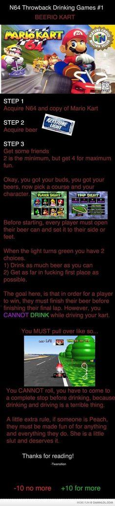 N64 Throwback drinking Game