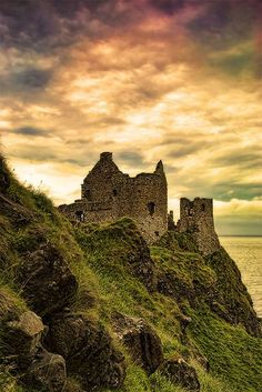 To be or not to be Dunluce Castle, County Antrim, Northern Ireland.