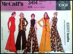 McCall's 3414  Misses' Separates For Unbonded Stretchable Knits  Size 12