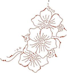 Blume # nägel - Famous Last Words Embroidery Cards, Tambour Embroidery, Hand Embroidery Patterns, Dot Art Painting, Painting Patterns, Candlewicking Patterns, Flower Iphone Wallpaper, Rhinestone Crafts, Nail String Art