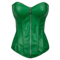 fbba2d955af Faux-Leather-Green-Gothic-Corsets-Steampunk-Bustiers-Plus-
