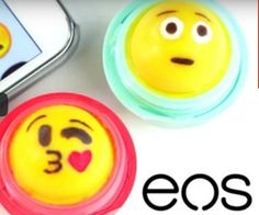 Turn your EOS lip balms into emojis