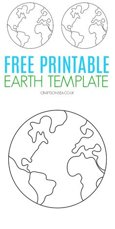 Free Earth template - perfect for space crafts and Earth Day crafts #kidscrafts #kidsactivities