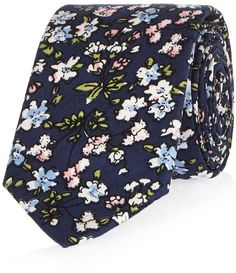 Shop for Mens Navy Ditsy Print Tie by River Island at ShopStyle.