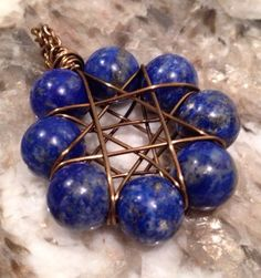 Lapis Lazuli Eight Pointed Star on Etsy, $20.00 CAD