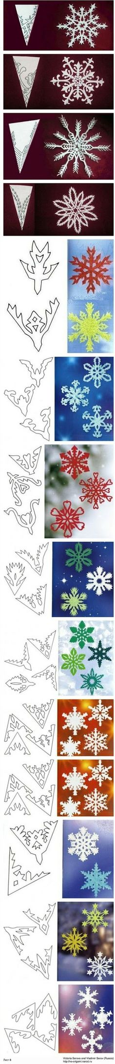 Diy Projects: DIY Paper Cut Snowflakes Tutorial Collections