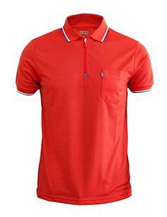 BCPOLO Men's Front Zipper Collar Polo Shirt functional sportswear-scarlet-S XS BCPOLO http://www.amazon.com/dp/B00RMAN0JE/ref=cm_sw_r_pi_dp_82v7ub1CK8NTM