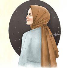 Hijab Drawing, Manga Drawing, Anime Chibi, Kawaii Anime, Hijab Logo, Birthday Quotes For Best Friend, Girly Drawings, Islamic Wallpaper, Cute Cartoon Wallpapers