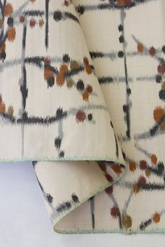 Hold for whitneymarch - Japanese meisen silk kimono fabric in warm autumn colors