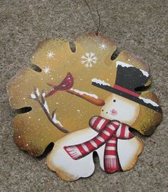 "40007Y - Yellow Snowman Ornament   6"" Metal Snowman Ornament     $ 2.25"