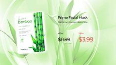 Prime Facial Mask – Bamboo Face Facial, Facial Care, Facial Masks, Korean Facial, Korean Face Mask, Types Of Facials, Collagen Facial, Glow Mask, Natural Facial