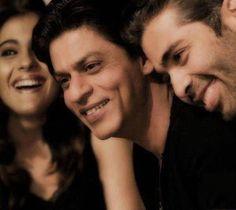 Kajol, Shahrukh and Karan Johar