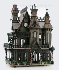 Haunted Dollhouse, Haunted Dolls, Halloween Haunted Houses, Dollhouse Miniatures, Victorian Dollhouse, Halloween Miniatures, Halloween Village, Modern Dollhouse, Halloween 2019