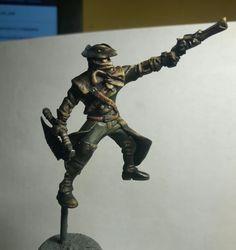 Bloodborne miniature. First steps in sculpting. Work in progress.