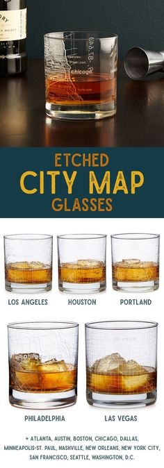 City map glasses.