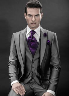 suits with contrast lapel - Google Search