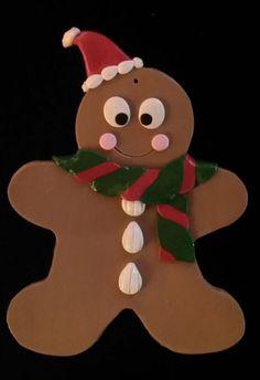 30% OFF SALE Santa Gingerbread Ornament