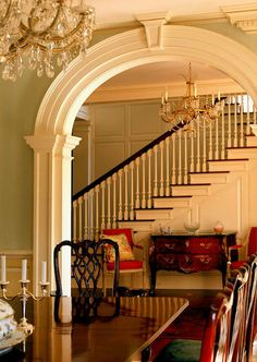 English Country Style Dining room, interior design ideas and home decor, Arched doorway ~ Neumann Lewis Buchanan Beautiful Interiors, Beautiful Homes, Simply Beautiful, Rooms Ideas, Arch Doorway, Interior And Exterior, Interior Design, Room Interior, English Country Style