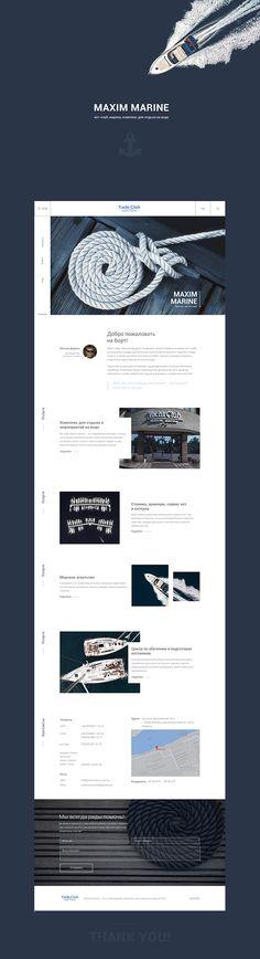 yacht, yachting, ui, ux, web design, web site, sailing, marine, club, sea, ocean, boat, blue, web design inspiration, ui inspirations, ui trends, behance, we love web design, ui collections, minimal design, simple design