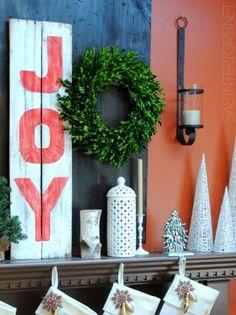 Wooden Joy Christmas sign