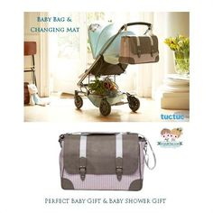 Baby bag and changing mat from the Spanish brand #TucTuc. Great baby gift or baby shower gift!   Shop now at: www.kidsandchic.com/baby-bag-and-changing-mat-tuc-tuc-magic-forest.html  #baby #babygift #shoppingbarcelona #bebe #regalobebe #niño #niña #babyboy #babygirl #babyshowergift #babybag #stroller