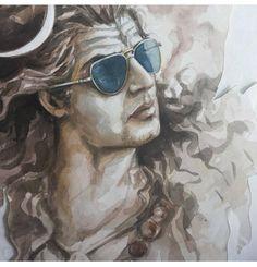 Lord Shiva as Nataraj in creative art painting Shiva Tandav, Rudra Shiva, Shiva Linga, Shiva Art, Hindu Art, Lord Ganesha Paintings, Lord Shiva Painting, Lord Shiva Hd Wallpaper, Lord Vishnu Wallpapers