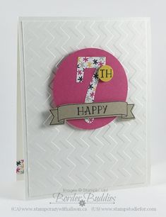 Number of Years Birthday Card Occasions Catalog #stampinup www.stampstodiefor.com 4