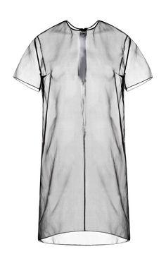 DESIGNER: Richard Nicoll DETAILS HERE:Richard Nicoll Black Organza T-Shirt Dress