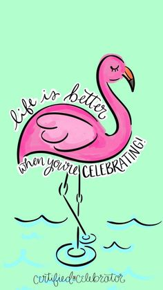 """""""Just Because"""" Bonus Screensaver ⋆ Certified Celebrator with Brittany Young Flamingo Decor, Pink Flamingos, Brittany Young, Bujo, Dream Cars, Aloha Party, Event Planning Tips, Wedding Event Planner, True Feelings"""