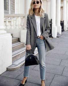 Blazer and boyfriend jeans #fallstyle #trends