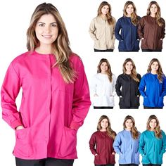 7703f286084 Lab Coats 105417: Medical Nursing Natural Uniforms Warm Up Top Scrubs  Jackets Lab Coats For Women -> BUY IT NOW ONLY: $10.45 on eBay!