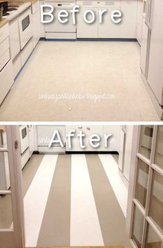 #16. Paint your vinyl or linoleum flooring. - 20 Low-budget Ideas to Make Your Home Look Like a Million Bucks