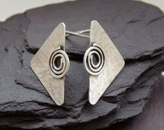 Sterling silver post earrings. Sterling silver stud earrings. Silver jewellery. Handmade. MADE TO ORDER.